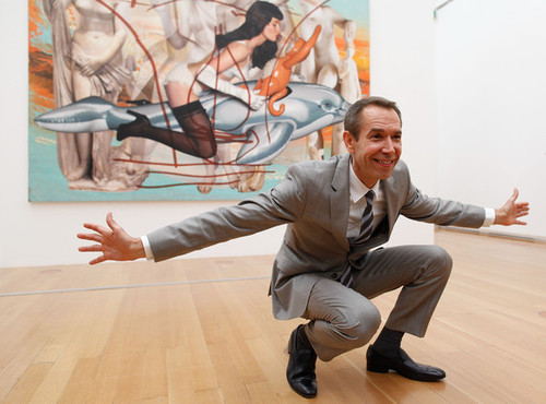 "Jeff Koons with ""Antiquity 3"" (2011). Image credit: Zimbio."