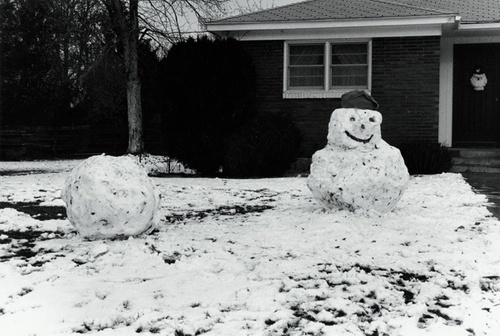 "David Lynch, ""Snowman 08"" (1993). Image credit:  Kayne Griffin Corcoran ."