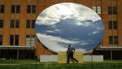 "Anish Kapoor, ""Sky Mirror"" (2006). Image credit: Kate Geraghty for the  Sydney Morning Herald ."