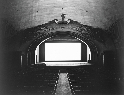 "Hiroshi Sugimoto, ""Avalon Theatre, Catalina Island"" (1993). Image credit: The Whitney ."