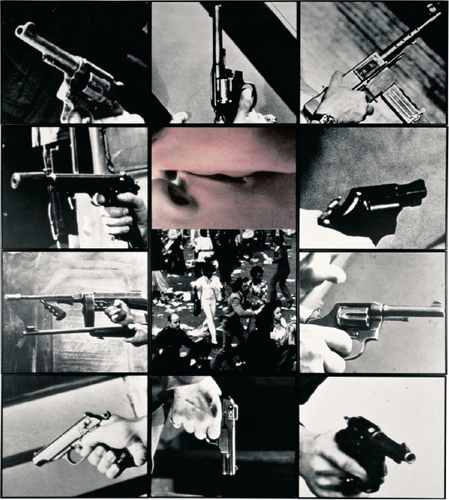 """John Baldessari, """"Kiss/Panic"""" (1984). Image credit: Fleurmach ."""