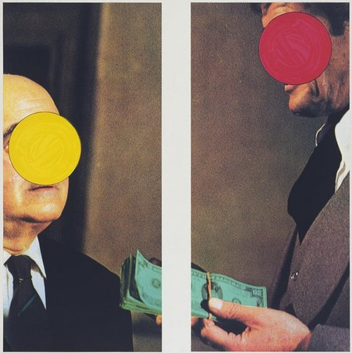 "John Baldessari, ""Money (with Space Between)"" (1994). Image credit:  Printed Editions ."