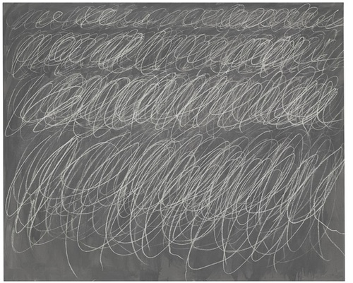 "Cy Twombly, ""Untitled"" (1970). Image credit:  artnet  via Christie's."
