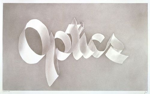 "Ed Ruscha, ""Optics"" (1967). Image credit: Lauba via Pinterest."