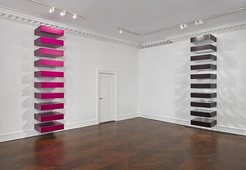 Donald Judd, Installation view,  Mnuchin Gallery , 2013. Image credit:  Tom Powel Imaging, Inc .