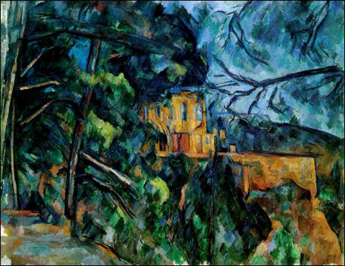 """PaulCézanne, """"Chateau Noir"""" (1904). Image credit: Mchobe's Blog ."""