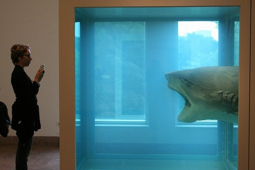 "Damien Hirst, ""The Physical Impossibility of Death in the Mind of Someone Living"" (1991). Image credit:  Art Siegel ."