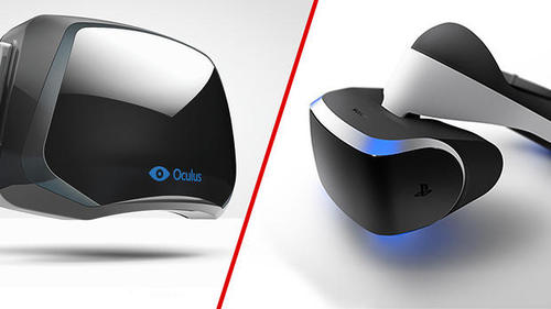 The Oculus Rift and Sony's Project Morpheus. Image credit: CVG.
