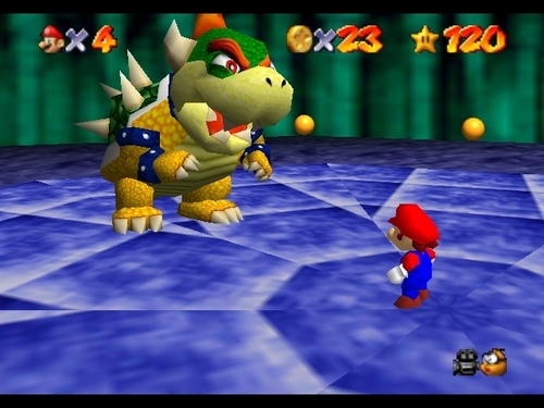 "Still from ""Super Mario 64"" (1996). Image credit: Fanpop."