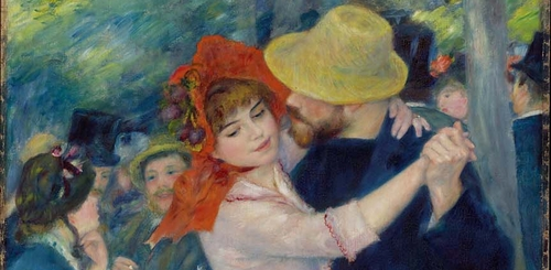 "Pierre-Auguste Renoir, detail from ""Dance at Bougival"" (1883). Image credit:  Tatiana Alensky ."
