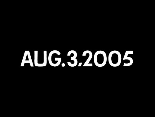 "On Kawara, ""Aug. 3, 2005"" (2005). Image credit:  Contemporary Art Daily ."