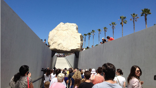 "Michael Heizer, ""Levitated Mass"" (2011). Image credit:  If It's Hip It's Here ."