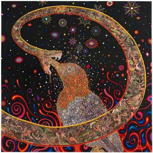 "Fred Tomaselli, ""Penetrators (Large)"" (2012). Image credit: James Cohan Gallery."