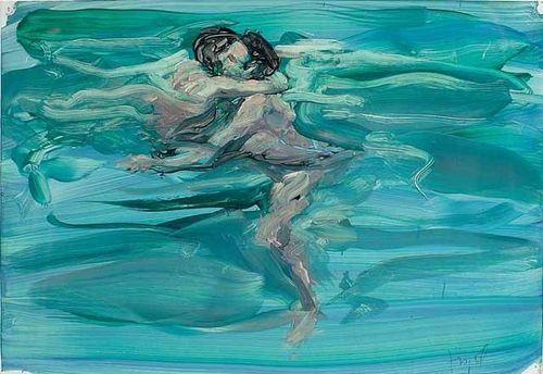 "Eric Fischl, ""Swimming Lovers"" (1984). Image credit: Pinterest."