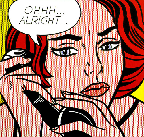 "Roy Lichtenstein, ""Ohhh…Alright…"" (1964). Image credit: Fiktura."