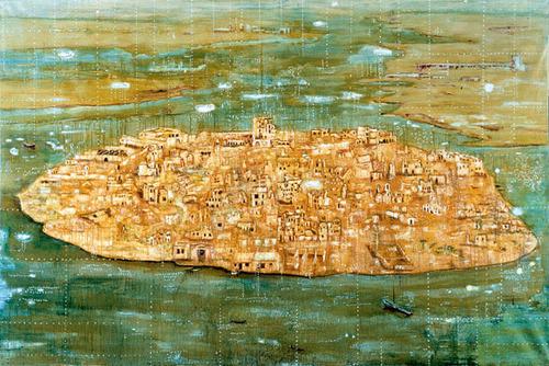 "Peter Doig, ""Bomb Island"" (1991). Image credit: Poul Webb ."