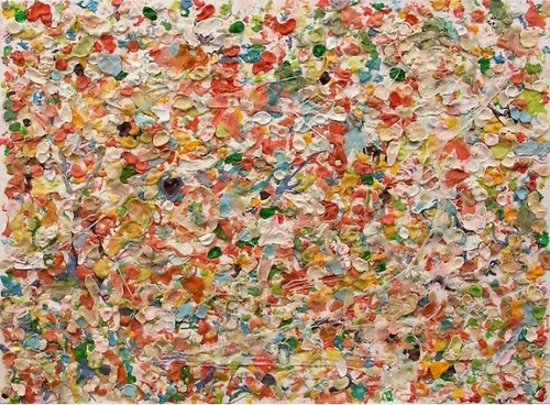 "Dan Colen, ""Untitled"", 2010. Chewing gum on canvas. Image credit:  Creativity Fuse ."