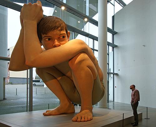 """Ron Mueck, """"Boy"""" (2004). Image credit: Gatsten ."""