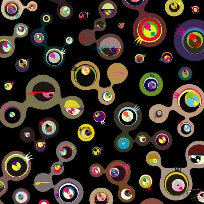 """Takashi Murakami, """"Jellyfish Eyes Black No. 4"""", edition of 300. Image credit:Paddle8."""