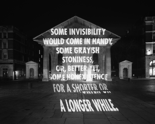 "Jenny Holzer, from her ""PROJECTIONS"" series. Image credit:  ONM Daily ."