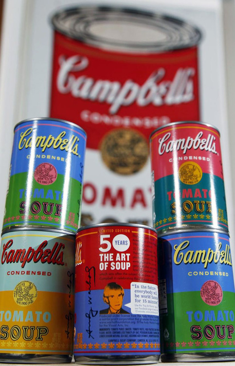50th Anniversary Andy Warhol Campbell's Soup cans. Image credit: That's Like Whoa!