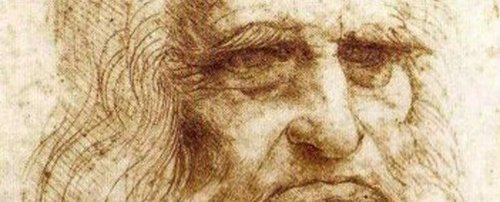 "Detail from Leonardo, ""Self-Portrait in Old Age"" (1512). Image credit:  Feel Guide ."