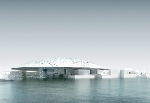 Concept rendering of the Louvre Abu Dhabi. Image credit:  Guide 2 Dubai .