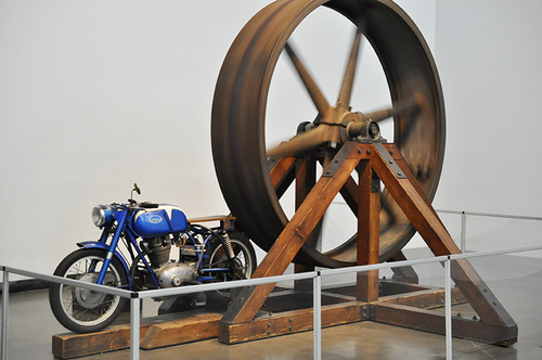 "Chris Burden, ""The Big Wheel"" (1979). Image credit:  OAK ."