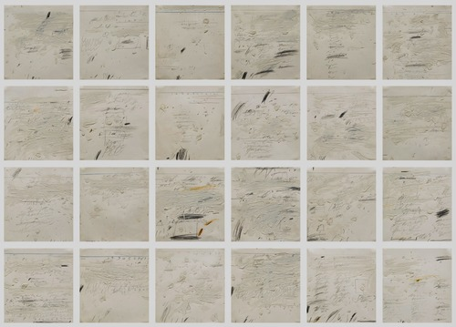 "Cy Twombly, ""Poems to the Sea"" (1959). Suite of twenty-four works on paper. Image credit:  Art and Artifice ."