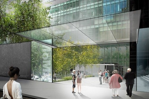 MoMA Concept Rendering: Sculpture garden entrance from 54th St. Diller Scofidio + Renfro. Image credit:  New Republic .