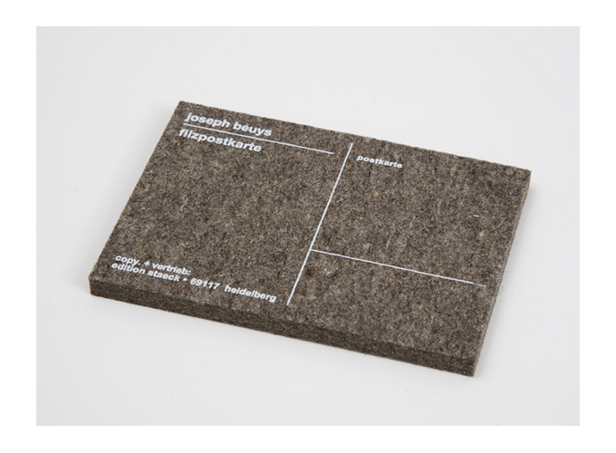 "Joseph Beuys, ""Felt Postcard"" (2000). Unlimited edition. Image credit:  IMRC ."