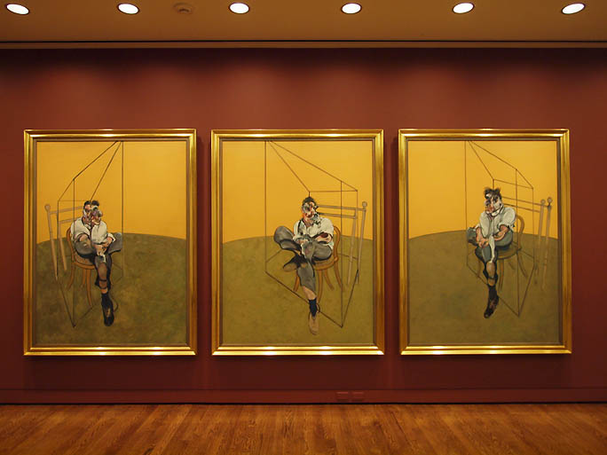 "Francis Bacon, ""Three Studies of Lucian Freud"" (1969). Image credit:  Portland Art ."