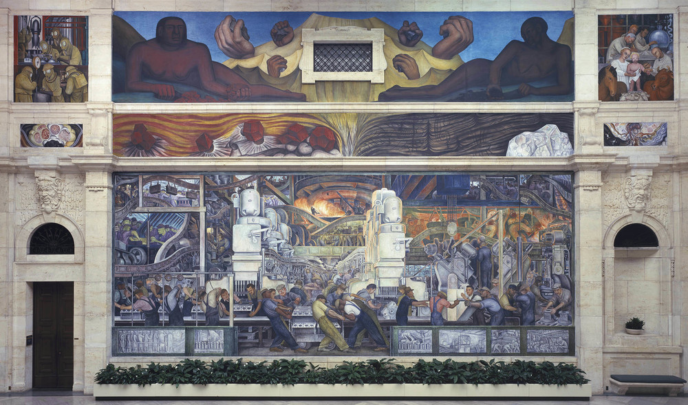 """Diego Rivera, """"Detroit Industry"""" (North Wall) (1932-33). Image credit:About Place Journal."""