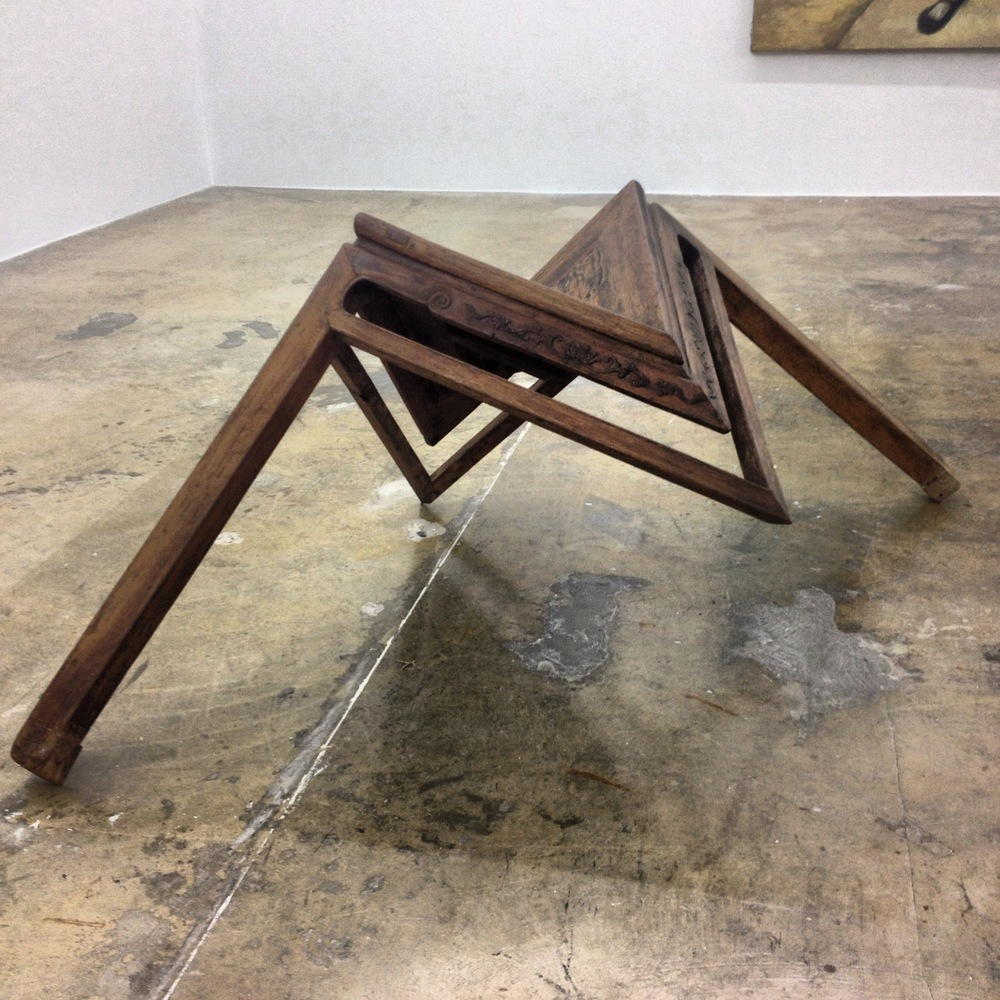 "Ai Weiwei, ""Table with Two Legs"" (2008). At the Rubell Family Collection."
