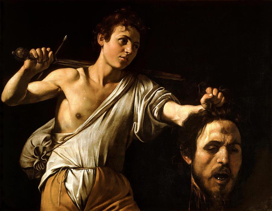 """Michelangelo Merisi da Caravaggio, """"David & Goliath"""" (ca. 1608). Image credit:  Fine Art America ."""