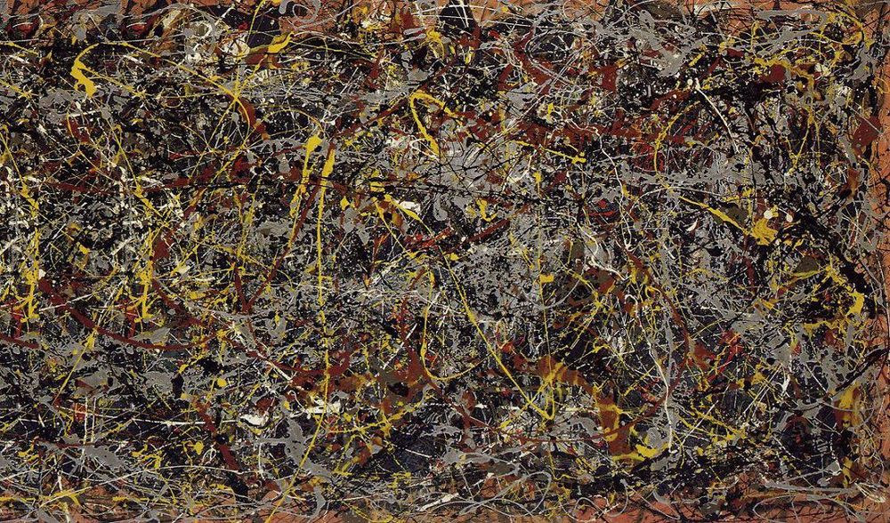 "Jackson Pollock, ""No. 5"" (1948). Image credit: JacksonPollock.org."