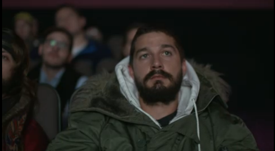 "Screen cap from LaBeouf, Rönkkö, and Turner's ""#ALLMYMOVIES"""