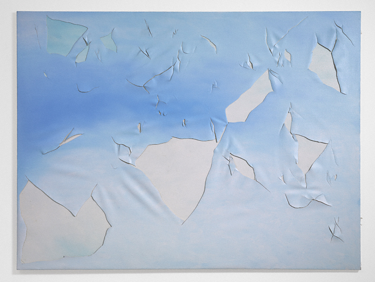 "Joe Goode, ""Torn Cloud Painting 73"" (1972). Image credit:  The J. Paul Getty Museum ."