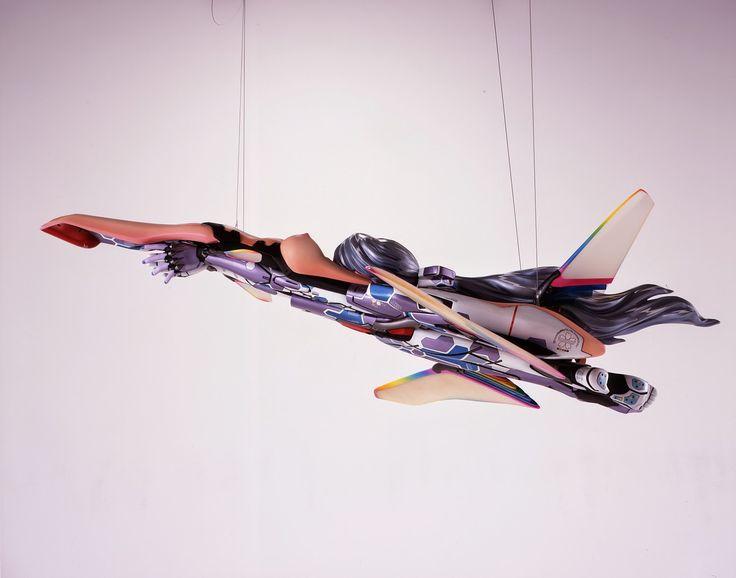 "Takashi Murakami, ""Second Mission ko2, Advanced (Jet Airplane Type)"" (1999-1007). Image credit:  Pinterest ."