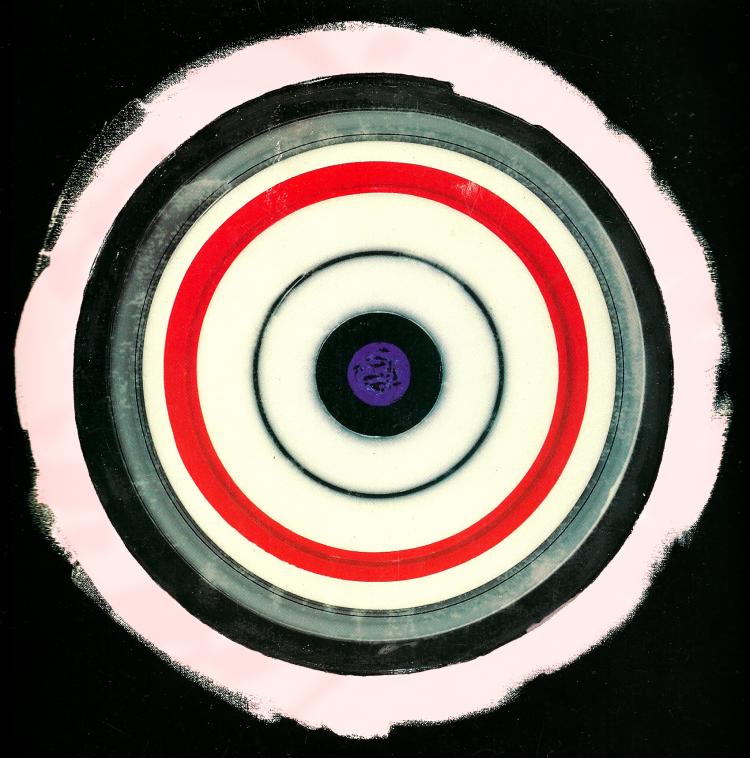 """Kenneth Noland, """"Jazz,"""" 1997-8. Image credit: Moffett's Artletter."""