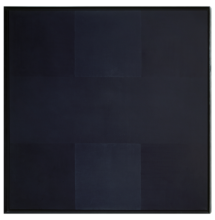 "Ad Reinhardt, ""Abstract Painting,"" 1962. Image credit: Art Agenda."
