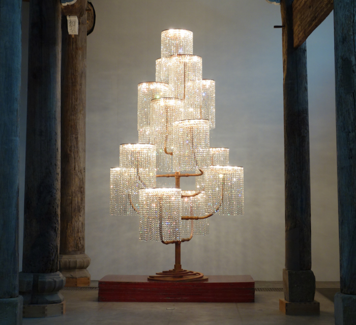 "Ai Weiwei, ""Chandelier,"" 2015. Image credit: Hyperallergic."
