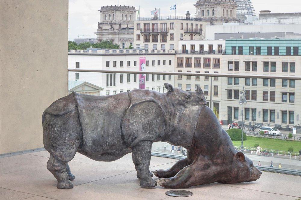 "Jon Rafman, ""L'Avelée des avelés (The Swallower Swallowed) Rhino/Bear,"" 2016. Image credit: Neven Allgeier ."