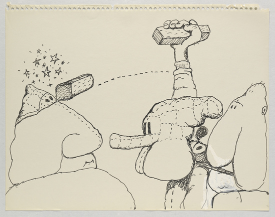 "Philip Guston, ""Untitled,"" 1971. Image credit:  NY Arts ."