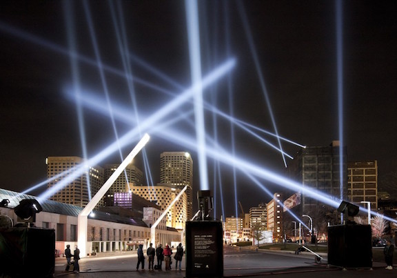 "Rafael Lozano-Hemmer, ""Articulated Intersect, Relational Architecture 18,"" 2012. Image credit: MAC Museum."