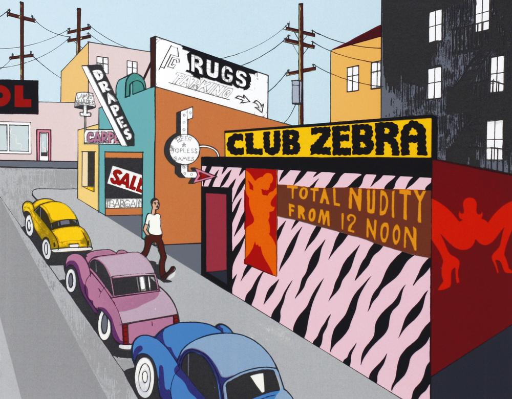 "Ken Price, ""Club Zebra,"" 1981. Image credit:  Mana Contemporary ."