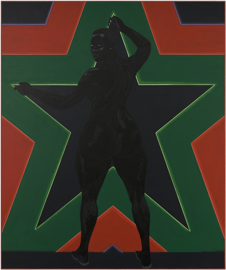 "Kerry James Marshall, ""Black Star 2,"" 2012. Image credit: Artsy."
