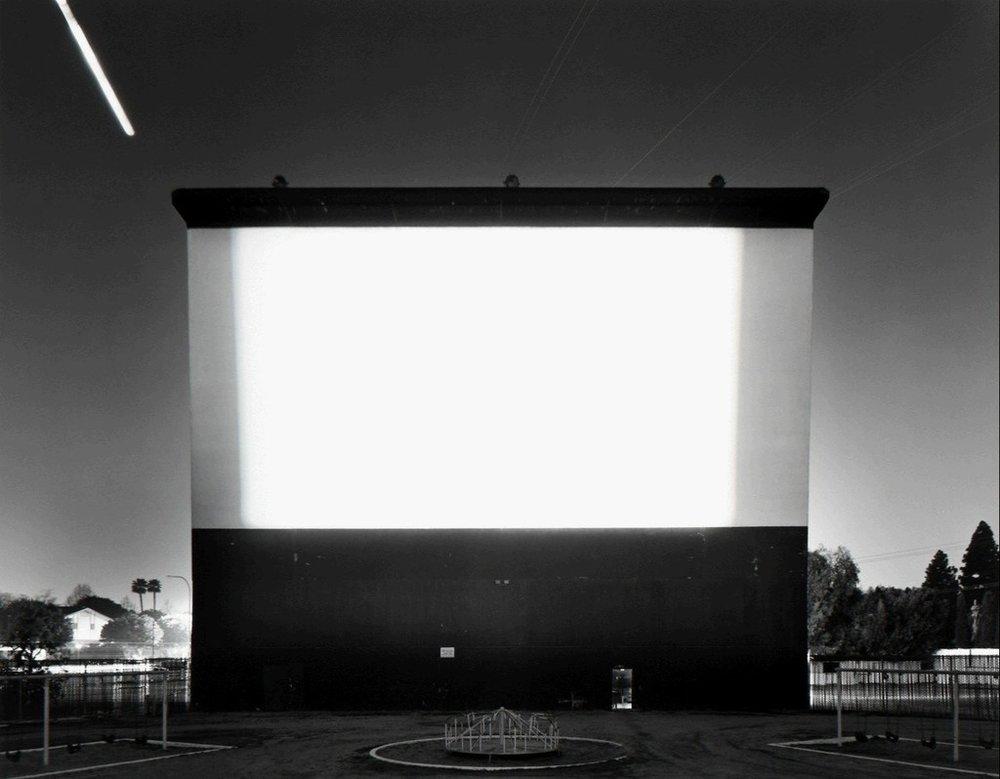 "Hiroshi Sugimoto, ""Studio Drive-In, Culver City,"" 1993. Image credit: Fraenkel Gallery via Artsy."