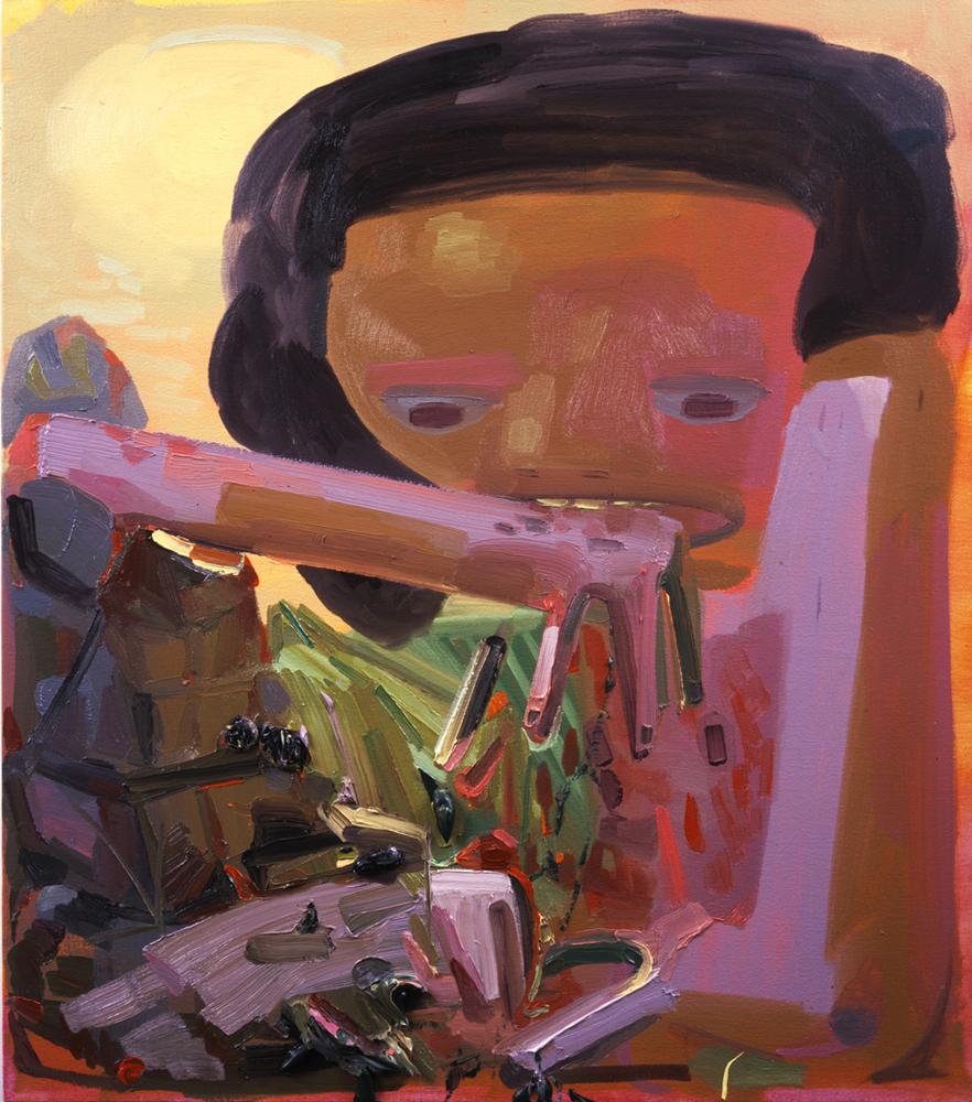 "Dana Schutz, ""Self Eater 3,"" 2003. Image credit:  Zach Feuer ."