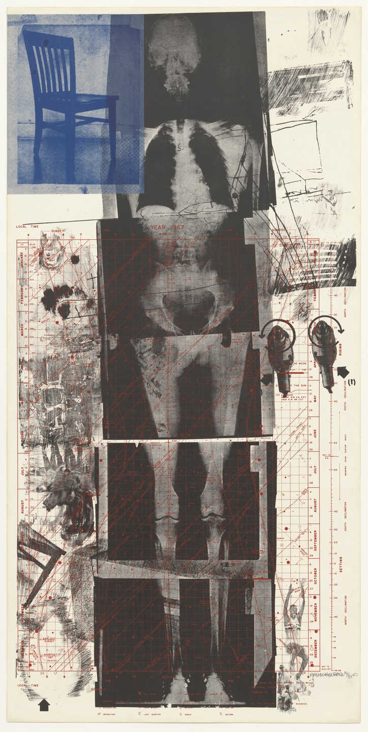 "Robert Rauschenberg, ""Booster,"" 1967. Image credit:  MoMA ."